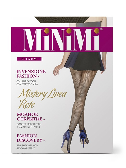 MINIMI Mistery Linea Rete - колготки в сетку со швом сзади - фото 8871