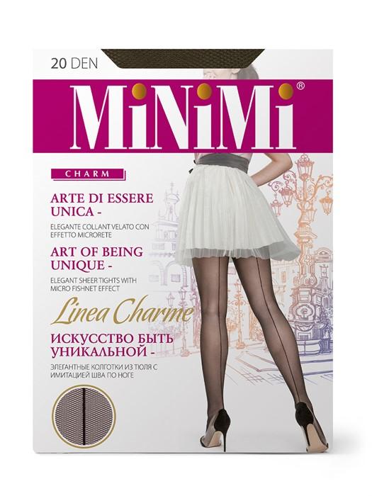 MINIMI Linea Charme - колготки тюль со швом сзади - фото 8919