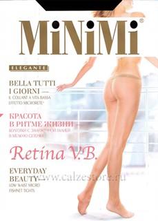 MINIMI RETINA V/B - колготки в сетку с заниженной талией