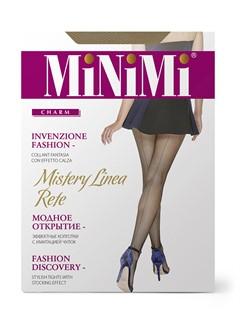 MINIMI Mistery Linea Rete - колготки в сетку со швом сзади - фото 8873