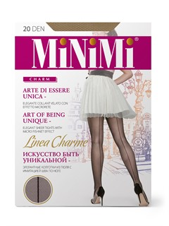 MINIMI Linea Charme - колготки тюль со швом сзади - фото 8924